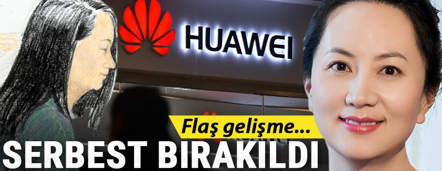 Son dakika Huawei CFOsu Mıng Vancou kefaletle serbest bırakıldı
