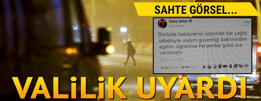 Ankara'da okullar tatil mi Valilik uyardı
