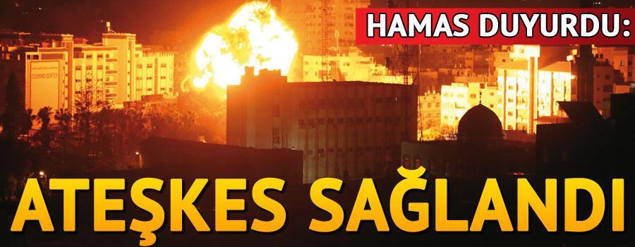 Son dakika... Hamas Gazzede ateşkes sağlandığını duyurdu
