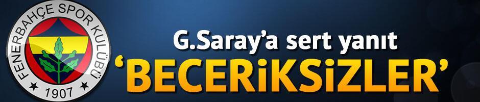 Fenerbahçe'den Galatasaray'a yanıt!