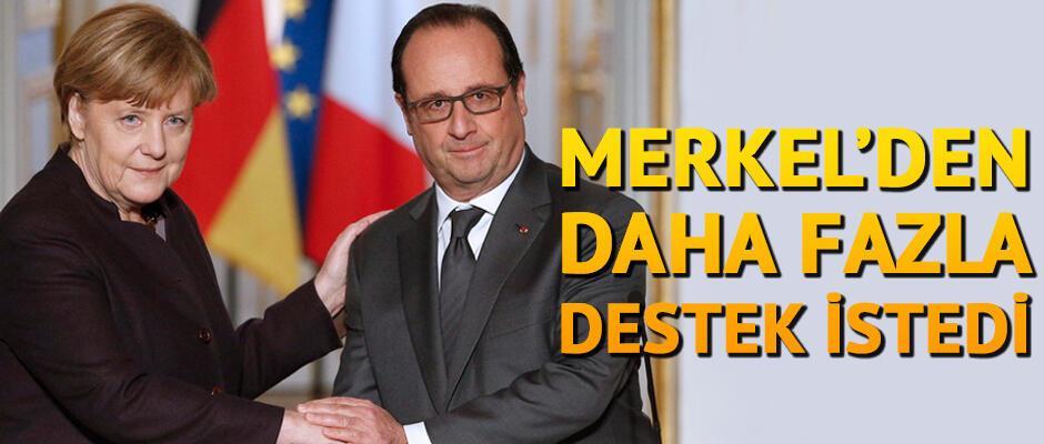 Merkel'den IŞİD'e karşı daha fazla destek istedi
