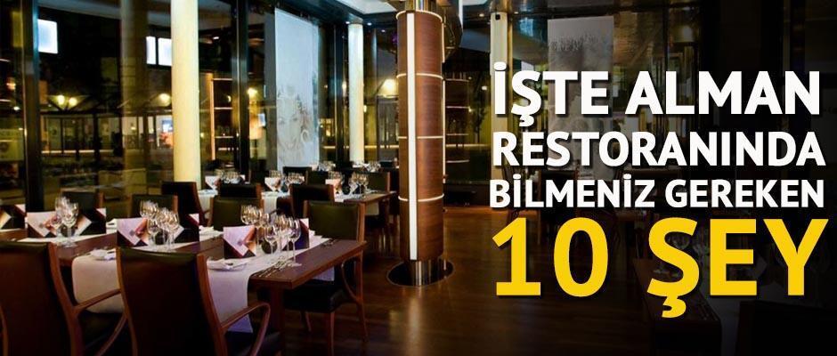 Bir Alman restoranında bilmeniz gereken 10 şey