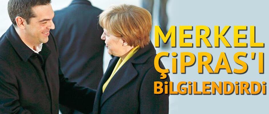 Merkel, Çipras'ı bilgilendirdi