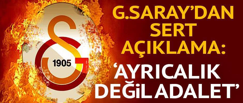 Galatasaraydan açıklama: Ayrıcalık değil, tarafsızlık istiyoruz