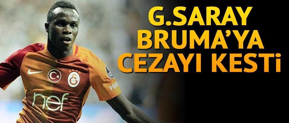 Galatasaraydan Brumaya 65 bin Euro ceza