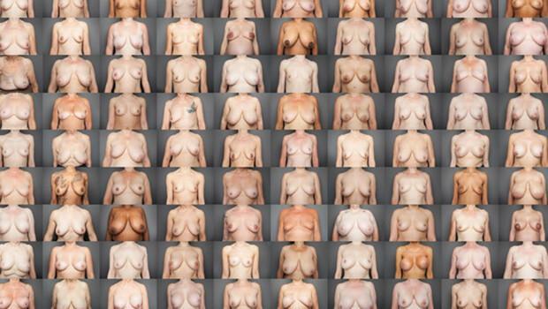 Junge kleine Brustgalerie