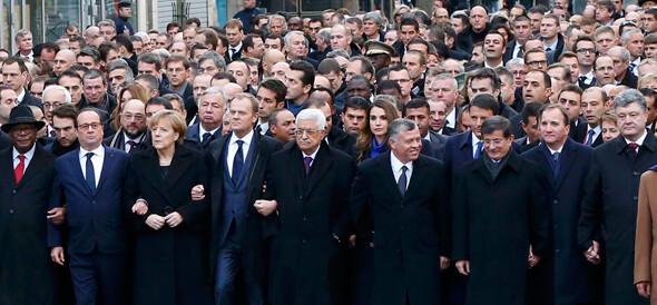 paris saldırısı sonrası liderlerin yürüyüşü ile ilgili görsel sonucu