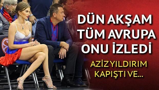 Fenerbahçe-CSKA Moskova maçına damga vuran kadın