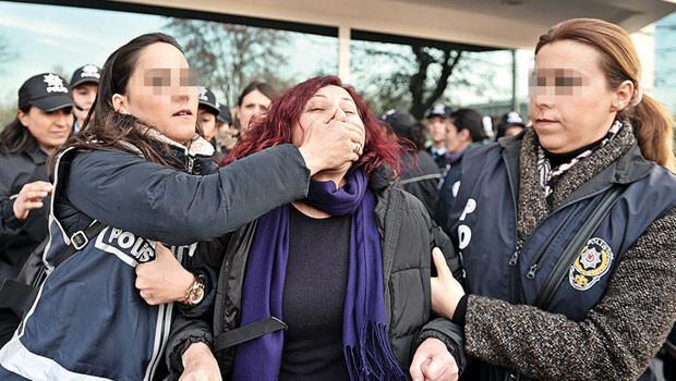 Tam gününde polis şiddeti
