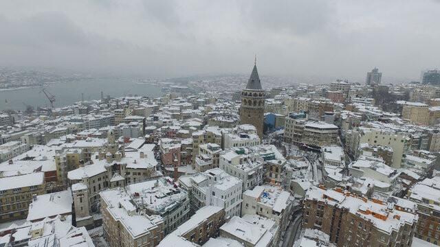 İstanbul'da kar yeniden başladı Okullar yarın Çarşamba da tatil olur