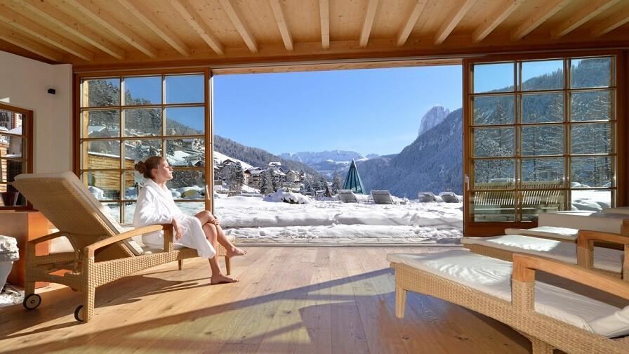 Dolomit Alpleri'nde Spa macerası