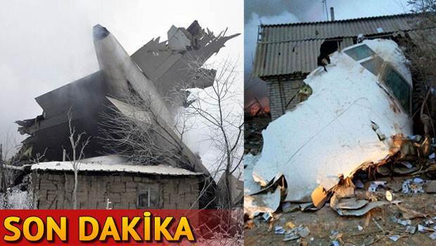 Bişkek'te düşen Türk kargo uçağından acı haberler geliyor