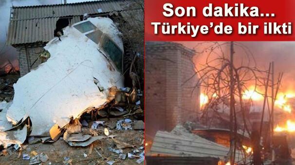 Türk kargo uçağı evlerin üzerine düştü Çok sayıda ölü var
