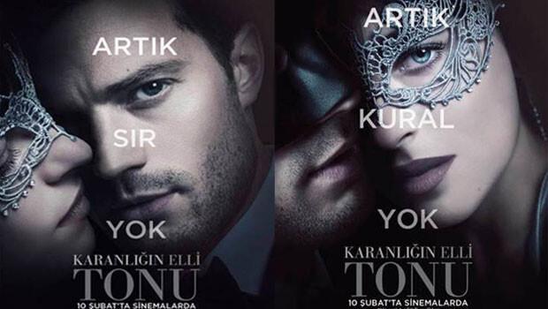 Karanlığın Elli Tonu'nun afişleri yayınlandı