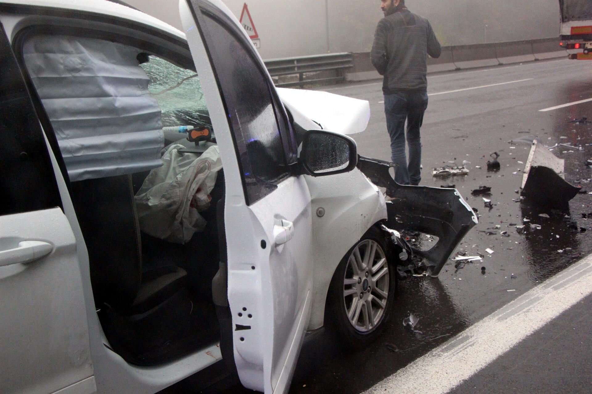 Bolu'da TEM Otoyolu'nda kaza: 6 yaralı