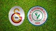 Rizespor, Galatasaray match what channel what time does it?