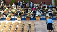 Ascoli Piceno'da cenazeler toprağa veriliyor