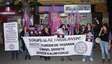 Eskişehir'de kadınlar Metro Turizm önünde cinsel tacizi protesto etti