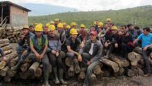Ermenekte 75 madenci ücretlerini alamayınca iş bıraktı