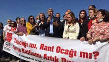 Sultangazi'deki taş ocakları için eylem
