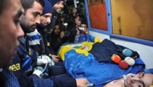 Ambulansla Fenerbahçe antrenmanına geldi