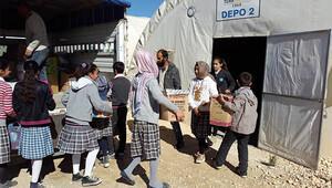 Öğrencilerden, Suriyelilere destek