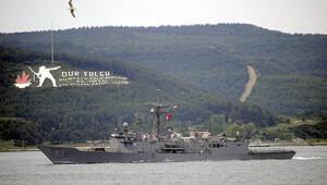ABD savaş gemisi, Boğaz'dan geçti