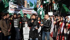 Çerkezler'den olimpiyat protestosu