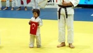 Küçük judocu Yasemin Saday