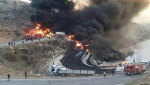 Zaho'da tankerlerin zincirleme kazası: 12 kişi yanarak öldü