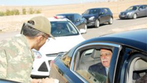 Jandarma korumalı taziye ziyareti