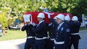 Kalpten ölen polis memuruna meslektaşlarından son veda