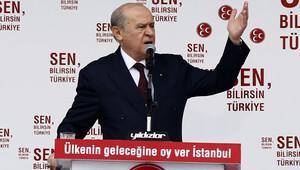 Bahçeli'den Erdoğan'a: Hadi bize taş gelsin, senin semtine de sadece hukuk gelsin