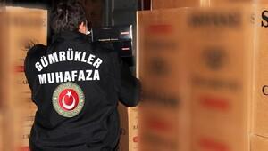 13 milyon liralık kaçak sigara yakalandı