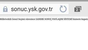 Yüksek Seçim Kurulu (YSK), SEÇSİS'i vatandaş erişimine kapattı