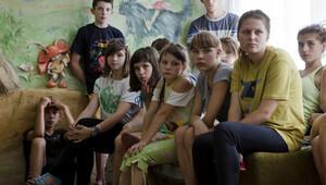 Ukraynalı yetimler savaşın ortasında kaldı