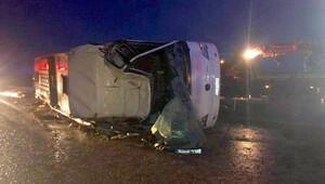 Konya'da devrilen otobüse bir başka otobüs çarptı: 6 ölü, 24 yaralı