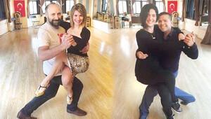 Bergüzar Korel ve eşi Halit Ergenç, tango dersi almaya başladı