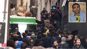 Sefa Kalya'nın cenazesi otelden alınırken olay çıktı