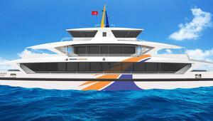 Boğaz'da İzmir tasarımı gemiler