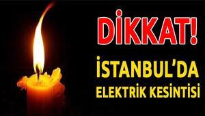 İstanbul elektrik kesintisi 31 Ocak 2016 Pazar