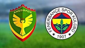 Amedspor - Fenerbahçe maçı ne zaman, saat kaçta, hangi kanalda?