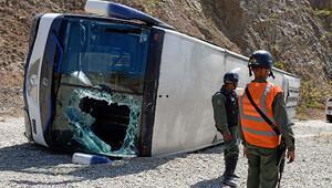 Huracan Futbol Takımı kaza yaptı