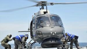 Yunan helikopteri düştü