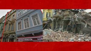 Beyoğlu'ndaki iki binanın çökmeden önceki hali