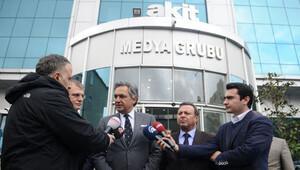 Mehmet Ali Yalçındağ ve Volkan Vural'dan Yeni Akit'e geçmiş olsun ziyareti