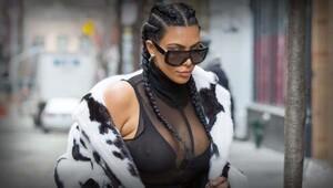 Kim Kardashian doğum kilolarından kurtulamadı!