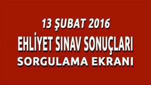 13 şubat 2016 ehliyet sınav sonuçları açıklandı!