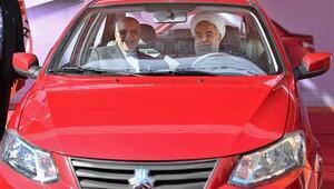 İran'ın yeni yerli otomobili ve dizel motoru tanıtıldı