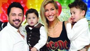 4 yaşına giren oğulları Uzay'ın doğum günü partisinde buluştular!